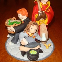 Harry Potter Trio A friend asked if I could just make a topper instead of the whole cake- how'd I do?