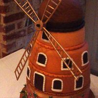 Windmill Wedding Cake The groom is Dutch so they wanted a windmill.