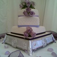 Sarah Three tier wedding cake twisted when tiered