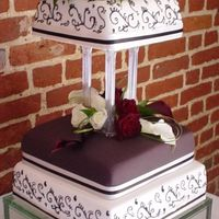 Mhindi Design Three tier wedding cake hand decorated with a Mhindi design