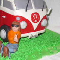 Vw Bus Cake   vw bus cake, used package mix, buttercream, marchmallow fondant