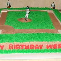 Baseball Cake   figures purchased by wilton