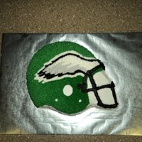 Philadelphia Eagles I used a cake pan for the helmet but did the details by eye.