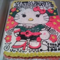 Hello Kitty Cake all buttercream