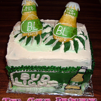 Bud Light Lime Cake bud light lime cake. everything on this cake is edible, including the bottles