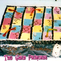 Snakes And Ladders Gameboard Cake