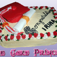 Graduation Cake everything on this cake is edible including the diploma and cap