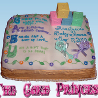 Baby Book baby book cake i did for a baby shower