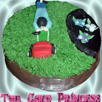 Mowing The Lawn Cake
