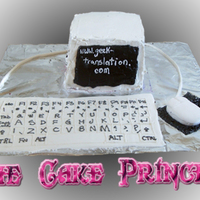 Computer Cake computer cake with everything edible on it, including the mouse and keyboard