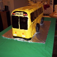 School Bus Birthday Cake This was for a friend's grandmother's 80th birthday. Grandma is a retired school bus driver. This is the largest cake I've...