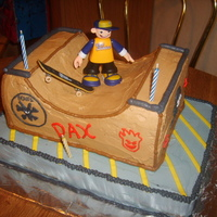 Skate Boarding My grandson loves loved this skate boarding BD cake....the emblems on the cake are actual SkateBoarding logos......