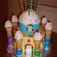 Cupcake Castle I made this for my grandson's BD and he loved it.....the idea came from a Wilton Yearbook.....
