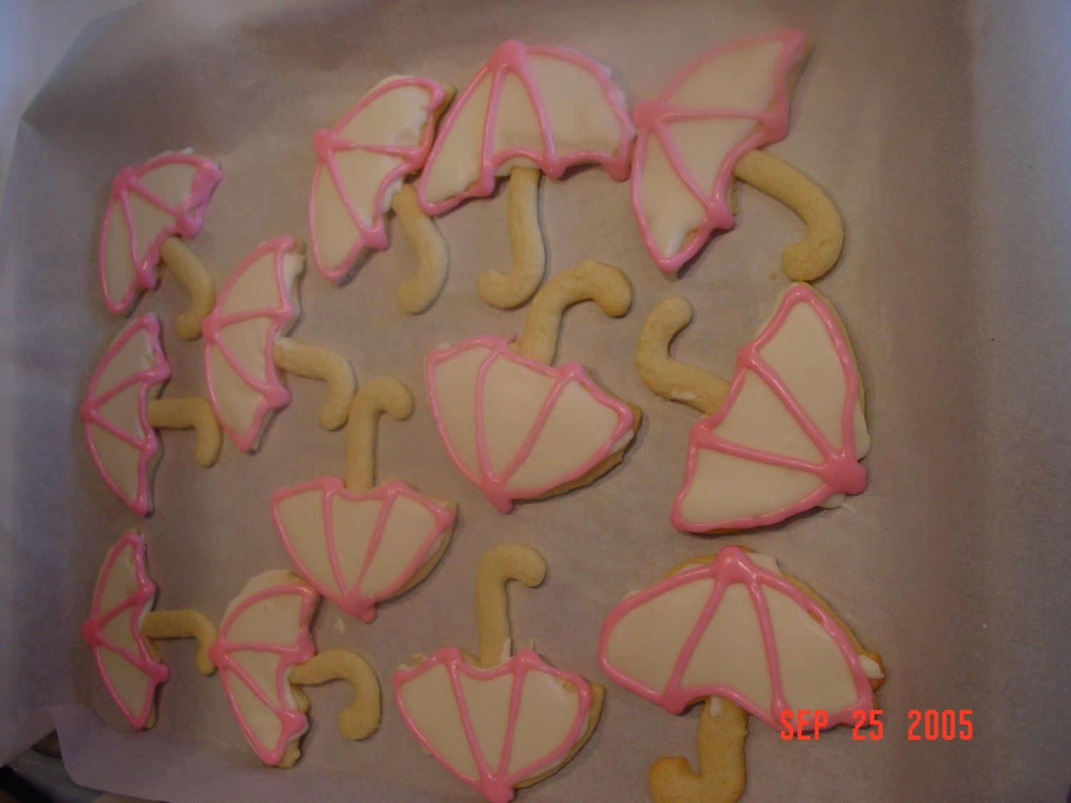 Baby Shower Umbrellas Almond sugar cookies for baby shower. Thanks for looking!
