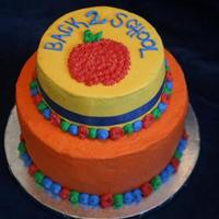 First Day Of School Celebration My first tiered cake, first writing, first ribbon... all of my cakes are still very much a work in progress as I try to learn all the...