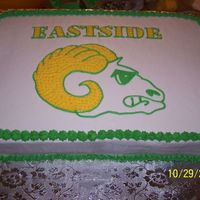 Little League Football Cake French vanilla with buttercream frosting.