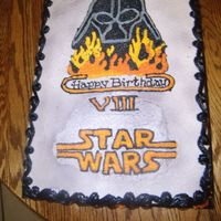 Star Wars Cake This was for a little boys 8th birthday all buttercream. Very fun to make