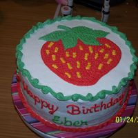 Strawberry cake for a strawberry lover