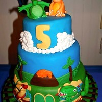 Dinosaur Train Dinosaur Train is the child's favorite show. Fondant covered and made to resemble characters from the show