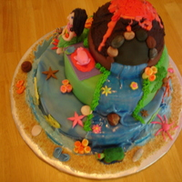 Hawiian Party My Daughter needed a cake for a Hawiian theme party and this is what I came up with.