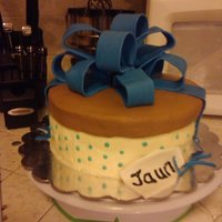 Present Cake chocolate cake with vanilla butternut marshmellow merangue filling and vanilla buttercream