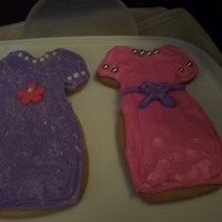 Sugar Cookies With Icing purses, dresses, shoes, and a comb all made out of sugar cookies with royal icing