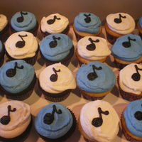 Music Note Cupcakes Cupcakes for the Orchestra Performance for my daughters school.