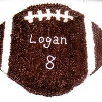 Football Cake   This is also a free-hand from a 9x13 pan using star tip all over. My hand was TIRED when I got through with this one.