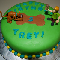 Scooby Doo Birthday Cake This was made for Birthday Cakes 4 Free Twin Cities. It's a marble cake with buttercream frosting and covered in marshmallow fondant....