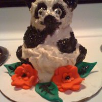 Panda Bear Cake Made from a mold, just for fun