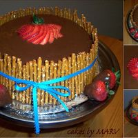 Groom's Cake A triple layer deep, dark chocolate cake with chocolate fudge filling and chocolate ganache frosting.Strawberry dipped in chocolate and...