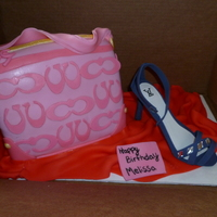 My First Time Doing A Shoe And Purse Cake A cake for my brothers girlfriend. She loved it!