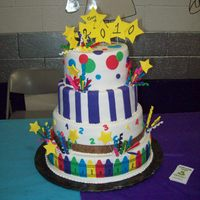 Kindergarten Graduation Cake! I made this cake for my niece, Maddy, for her kindergarten graduation....