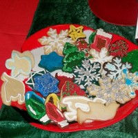 "Holiday Display Cookies A tray of decorated ""display"" cookies to market my Holiday Cookie Kits that I am selling in my area. Each kit contains 1 dozen..."