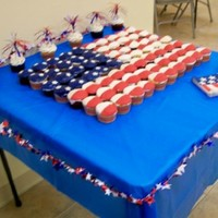 Flag Cupcakes_Left Created for 4 July 2010
