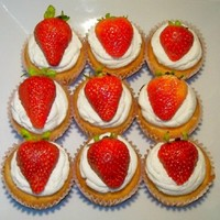 Strawberry Shortcake Cupcakes Created for annual church picnic 29 August 2010