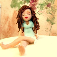 Little French Girl Out Of Gum Paste