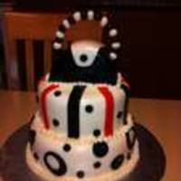 Purse Bridal Shower This was a cake I did for my best friend that is getting married. We had a purse themed bridal shower. Her colors are red/black/white. It...
