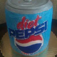 Diet Pepsi Buttercream transfer pepsi cake