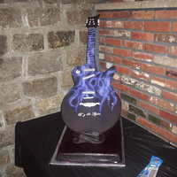 Standing Guitar Cake This cake came together at the final hour! The birthday girl wanted something similar to her invitations which was only a silhoette of a...