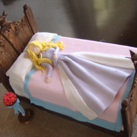 Sleeping Beauty just has the courage to do one of Debra Brown's creation. All is fondant and gum paste. TFL :)