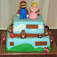 Mario Groom's Cake This was a suprise groom's cake I made for my husband at our wedding. He almost ruined the surprise by not going to work while I...