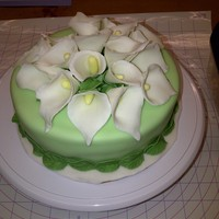 My Final Cake For My Fondant And Gumpaste Class