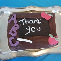 Thank You Cake  This was a cake I made a few years ago for our supervisor appreciation potluck in our school psych program. No formal training at this...