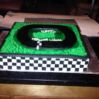Nascar Cake Nascar cake with checker board sides