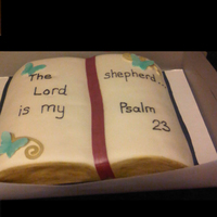 Bible Cake Bible Cake for gathering at church