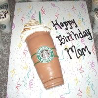 Frappuccino Cake  Caramel Frappuccino cake, Idea from tnt320to hers turned out much better! Not happy with the shape of mine at all. The matching cupcakes in...
