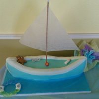 Baby Shower Sail Boat Boat Part Carrot Cake and Rice Krispie Treat