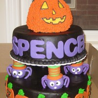 A Halloween Birthday! This is a birthday cake I created for my nephew (Wilton inspired)....I am very much a beginner to the world of cake, and was proud of how...