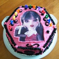 Draculaura Cake Make at the request of a 6 year old.